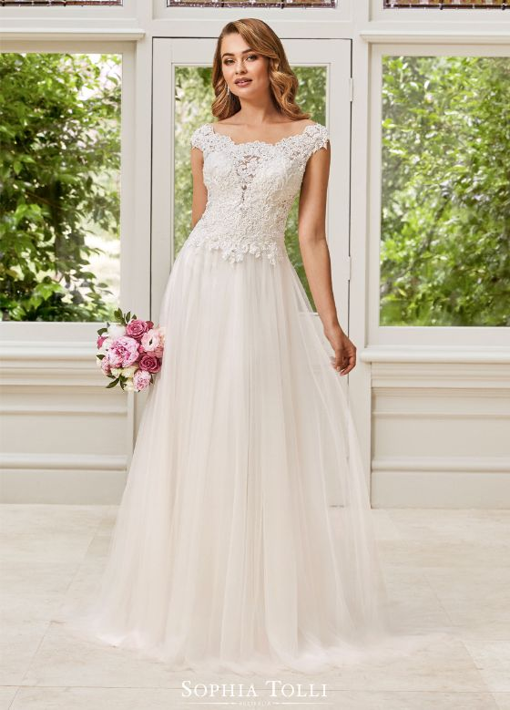 Sophia Tolli Bianca menyasszonyi ruha